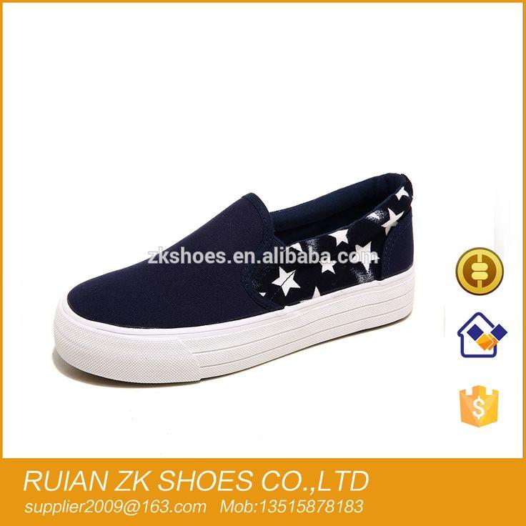 Latest Fashion Women's Heighten High Platform Canvas Shoes Slip On Sneakers