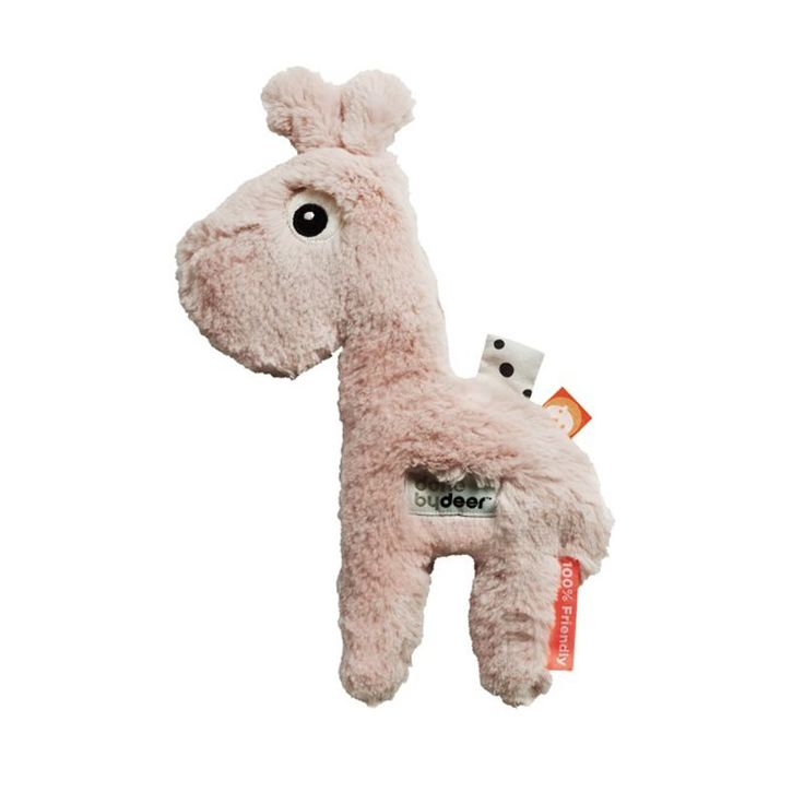 Done by deer knuffel Cuddle Cute Raffi is een super zachte knuffel giraf met extra labeltjes om aan te frunniken. Let's snuggle up together.