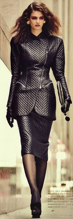 Quilted Leather Suit by Alexander McQueen♥✤ | KeepSmiling | BeStayClassy