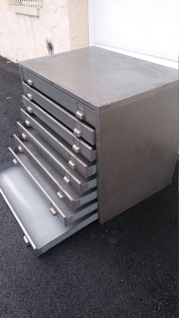 massive industrial all metal 8 drawer cabinet filing case from the rh pinterest com