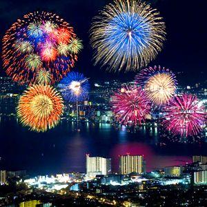Summer Tokyo Japanese hanabi .(fireworks)