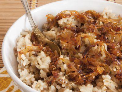 Receta de Arroz con Cebolla Caramelizada