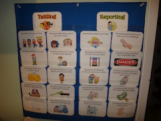 First Grade Garden: Freebies tattling vs reporting cards!