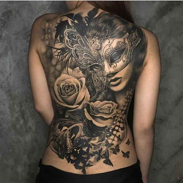 awesome back tattoo - Jenn Neo