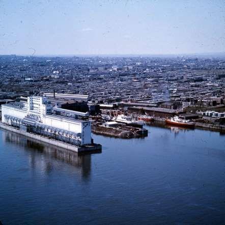 Le port de Montréal dans Hochelaga-Maisonneuve, 1965 - Archives de la Ville de Montréal