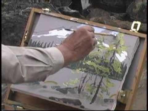 Video of Robert Genn painting at Lake O'Hara in the Canadian Rockies