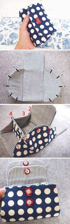 How to Sew Wallet Tutorial  DIY Zip Purse Coin Pouch Makeup Bag Tutorial  http://www.handmadiya.com/2015/11/how-to-sew-wallet-tutorial.html