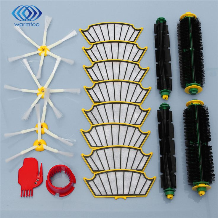 Side sikat + filter kit untuk irobot roomba 500 527 528 530 532 535 540 555 560 562 570 572 580 581 590 penggantian