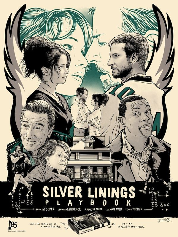 Creative Art Inspired by Oscar's Best Picture Nominees - My Modern Metropolis - Silver Linings Playbook
