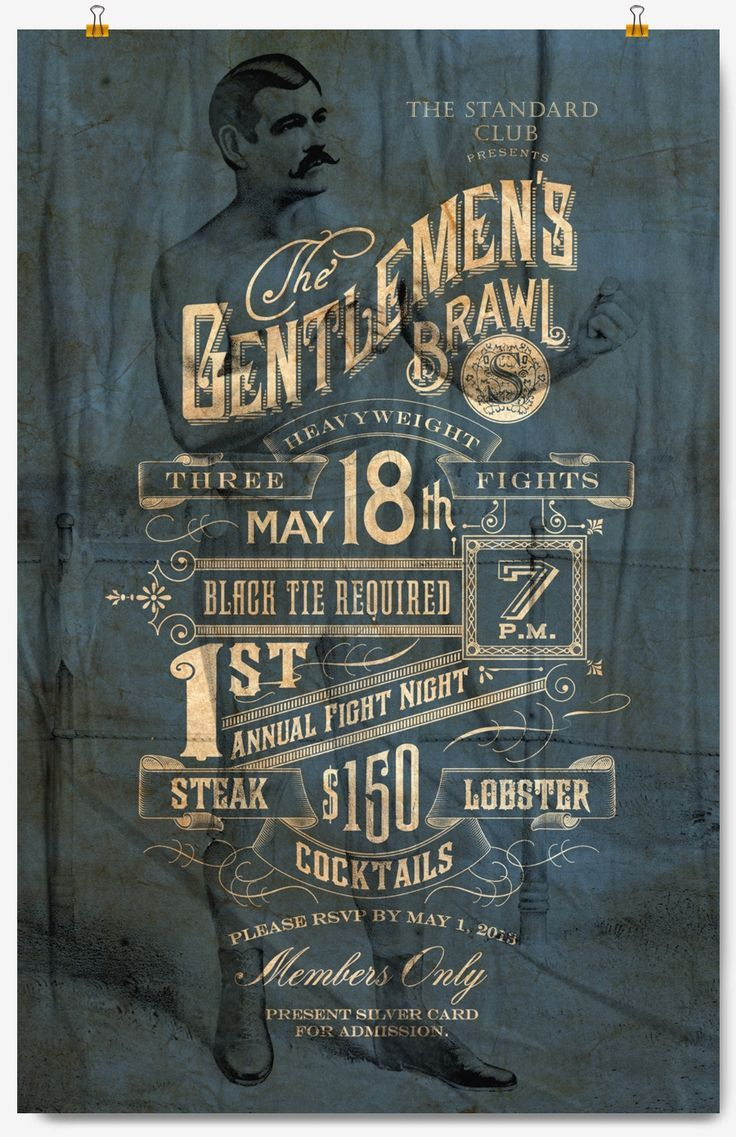 Love the layout and the low opacity of the gentlemen in the background. Inspiration for this years event.