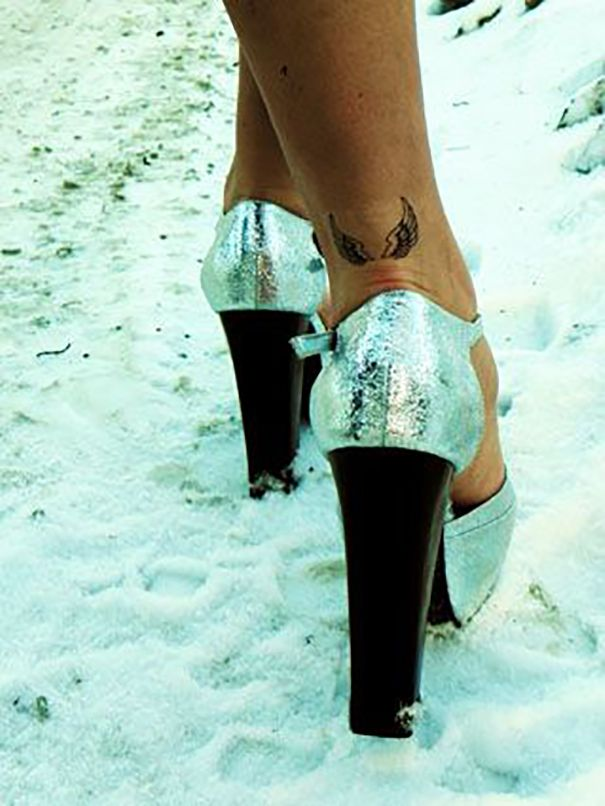 angel wings tattoo  on foot                                                                                                                                                                                 More