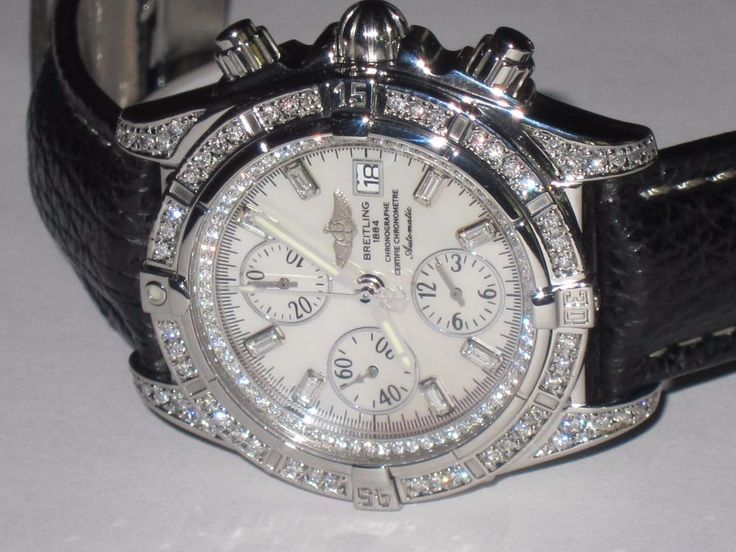 Mens Breitling Chronomat Evolution *** Diamonds Everywhere *** #Breitling
