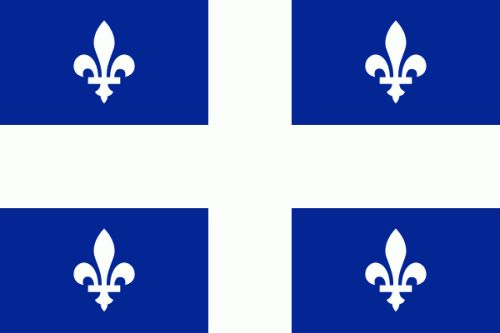 Bandeira nacional da provincia canadense de Quebec. Está dividida en catro partes de cor azul por unha cruz de cor branca. En cada unha destas catro partes ten unha flor de lis branca que é a flor desta provincia. A flor de lis foi un símbolo tradicional de Francia. Anteriormente, cando Canadá era parte do Imperio británico, a súa bandeira era outra, baseada na insignia británica. O fondo de cor azul real lembra a cor do escudo de armas dos soberanos de Francia durante a dominación de…