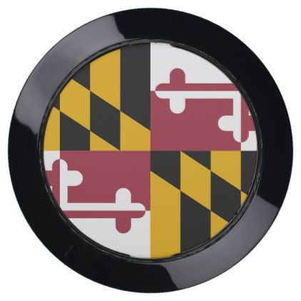 Charger Hub with Flag of Maryland State USA  $59.95  by AllFlags  - cyo diy customize personalize unique
