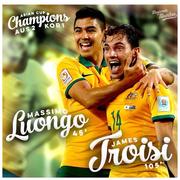 Luongo and Troisi goalscorers Asian Cup Final 2015