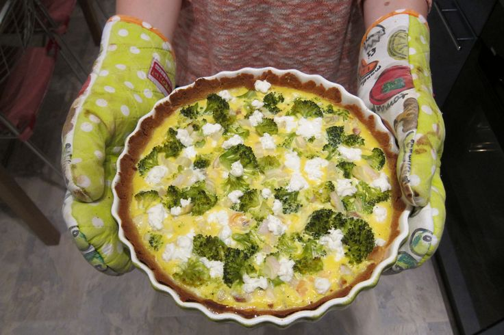 Paleo quiche met zalm en broccoli