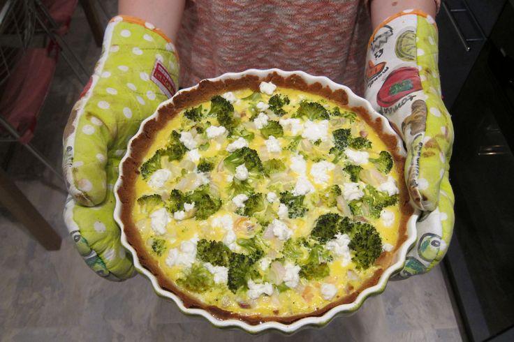 Paleo quiche met zalm en broccoli