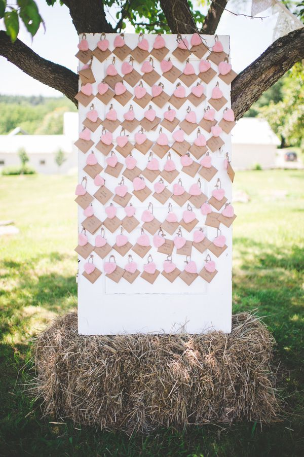 craft ideas for wedding place cards%0A Rustic Upstate New York Wedding