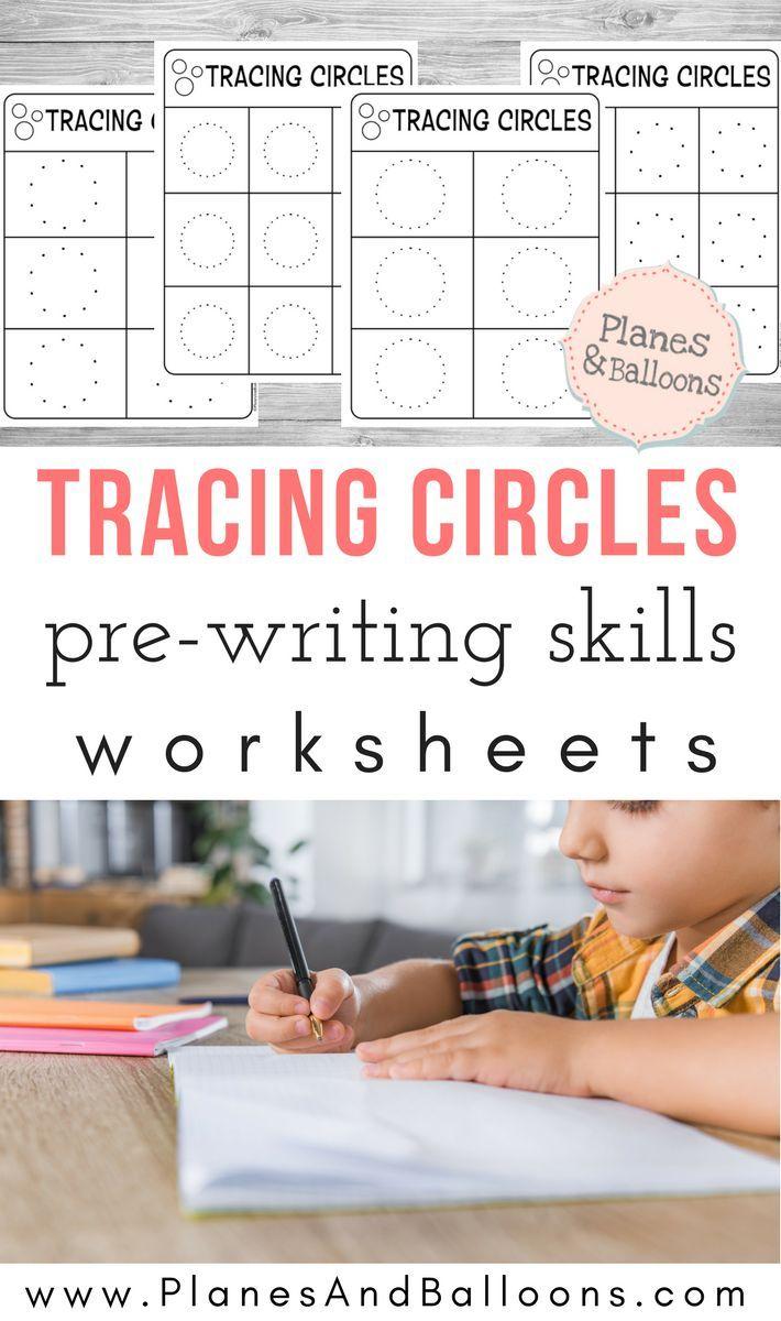 Tracing Circles Worksheets Planes Balloons Pre Writing Activities Kids Worksheets Preschool Free Preschool Worksheets [ 1200 x 710 Pixel ]