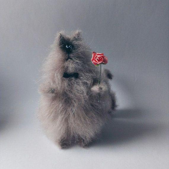 Sweet fluffy cat от WhatMyToy на Etsy
