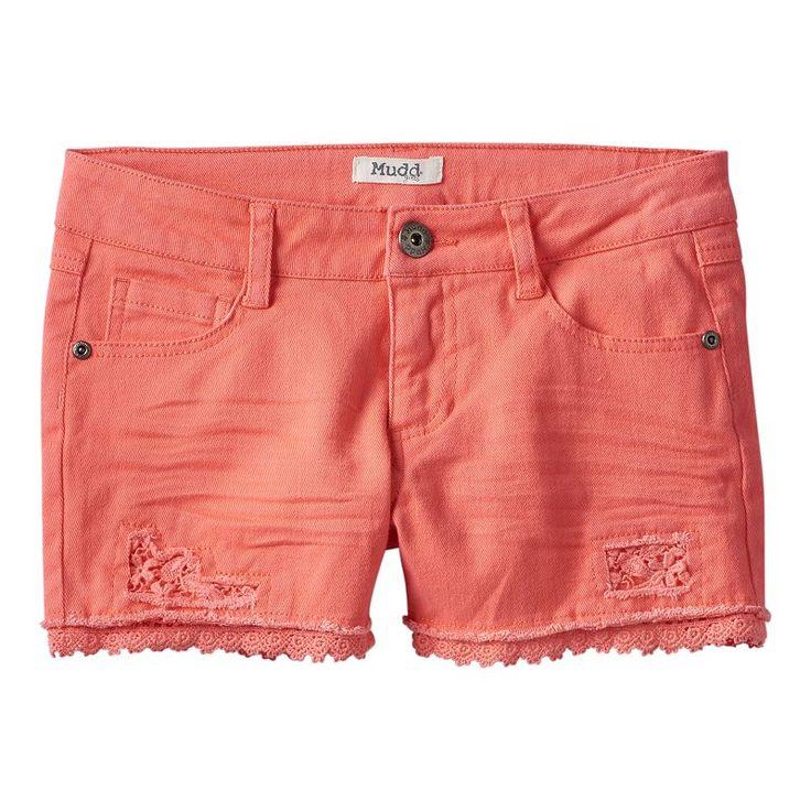 Girls 7-16 & Plus Size Mudd® Crochet Shorts,