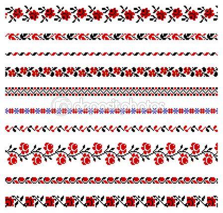 Ornamento de bordado ucraniano — Ilustração de Stock #4807094