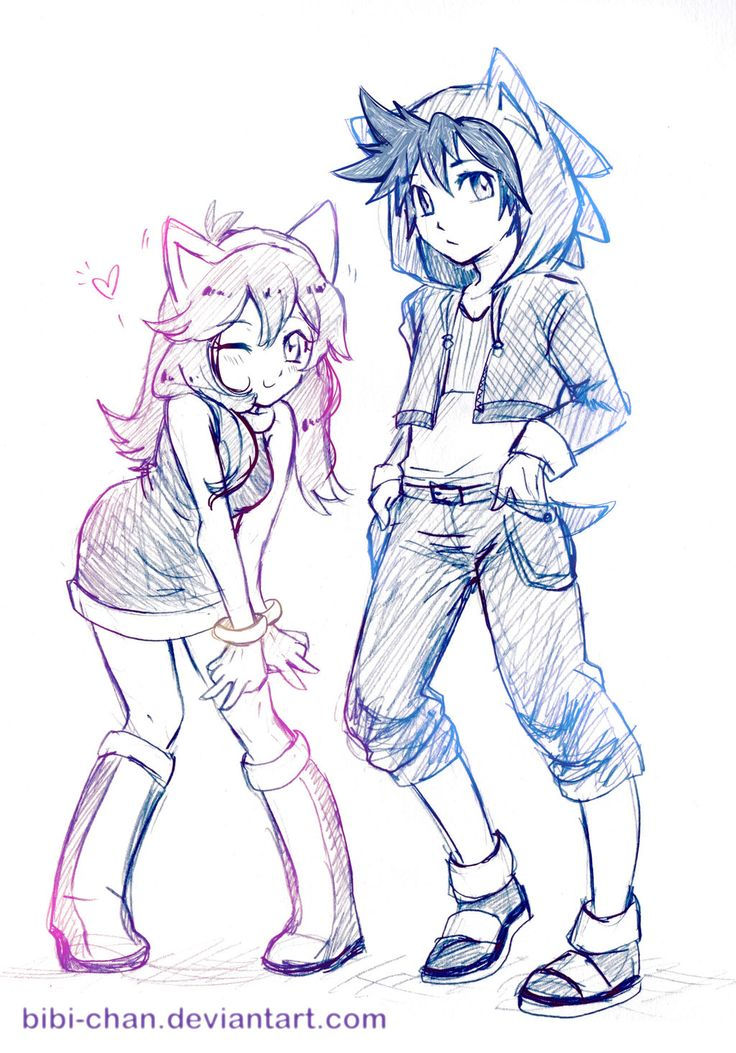 Humans sonic and amy Fan art