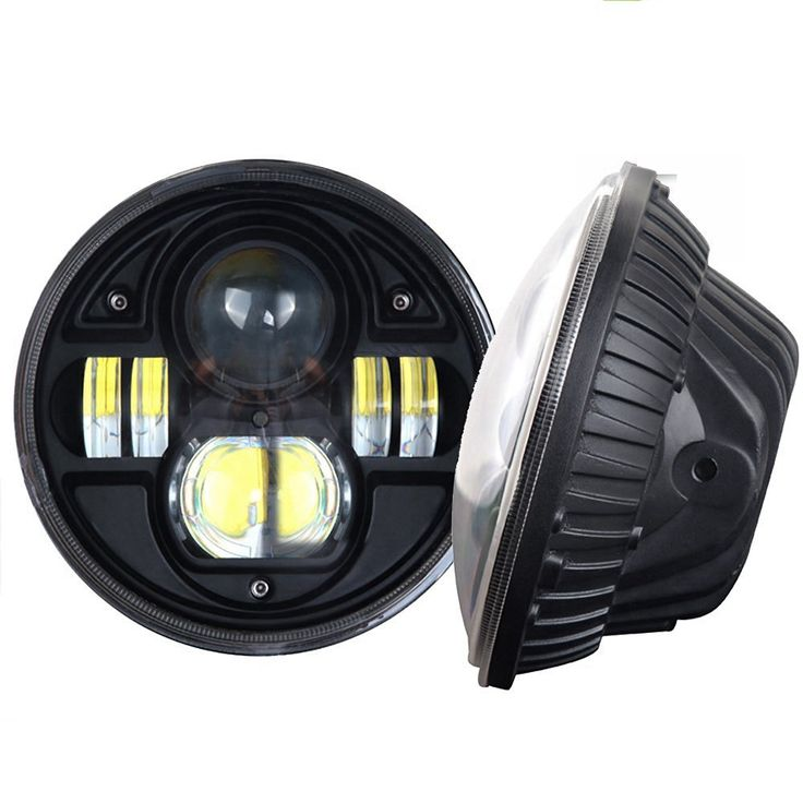 2PCS 7 INCH 45W LED Headlight 5800LM H4 High Low Beam Harley Driving Lights For Jeep Wrangler JK TJ LJ Hummer Truck
