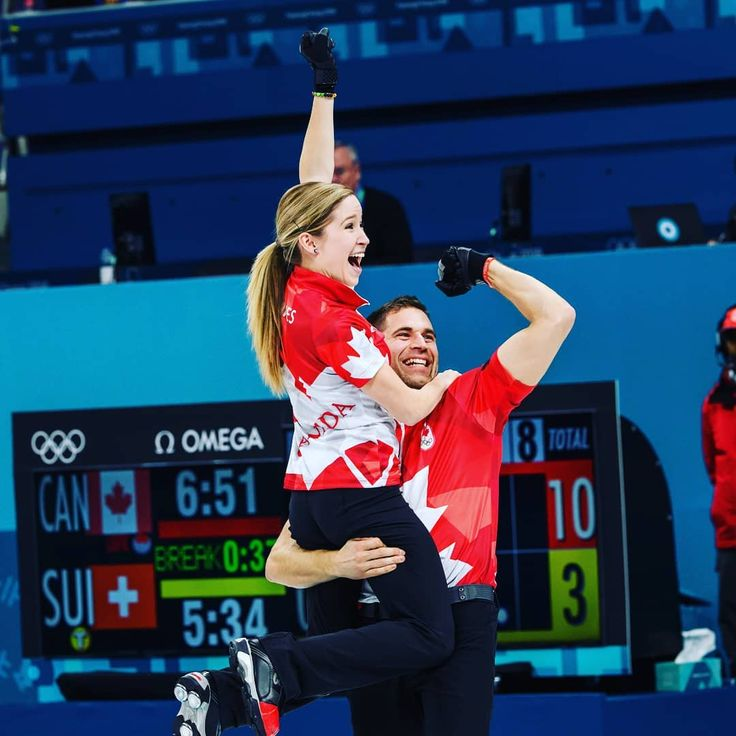 Canada's Kaitlyn Lawes and John Morris Gold Medalists for Canada in mixed doubles curling.