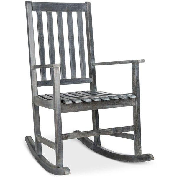 Falcan Outdoor Rocking Chair, Quick Ship ($239) ❤ liked on Polyvore featuring home, outdoors, patio furniture, outdoor chairs, grey, gray rocking chair, outdoor furniture, outdoor patio furniture and rustic outdoor chairs