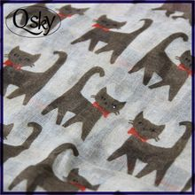 Wholesale promotional cheap price design women cat scarf