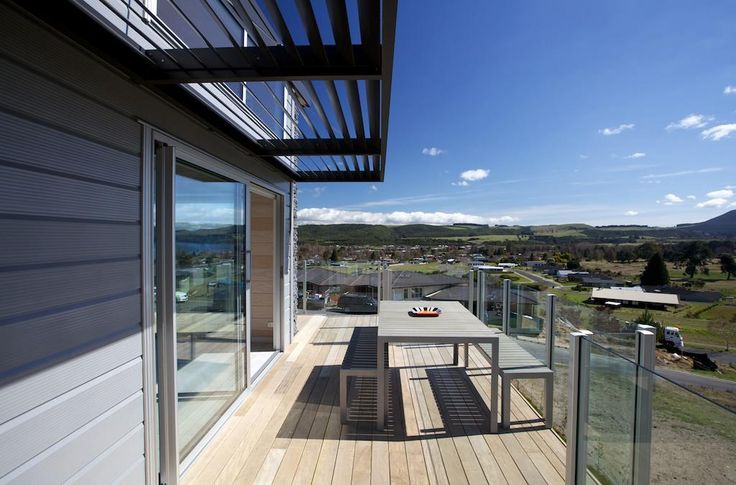 Stunning deck off the kitchen with those amazing Kinloch views