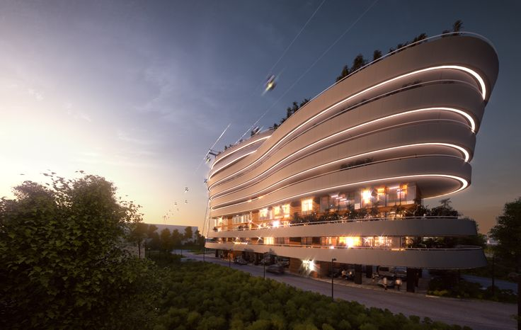 Wave Apartment Building Mamaia, Romania by Novelty AE. More on www.nvty.ro