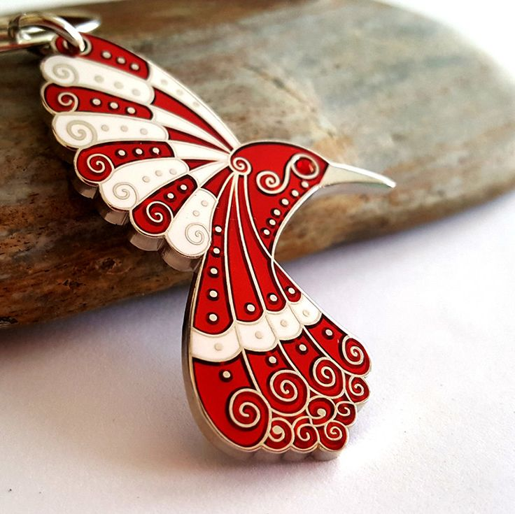 Ruby Red Hummingbird Pendant Ornament