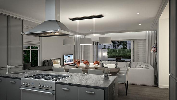 Kitchen in a unit in our newest development, Hoogeind.  Very modern and clean feel.  #kitchen #interiordesign #architecture #design #modern #property #development #home #lifestyle #luxury