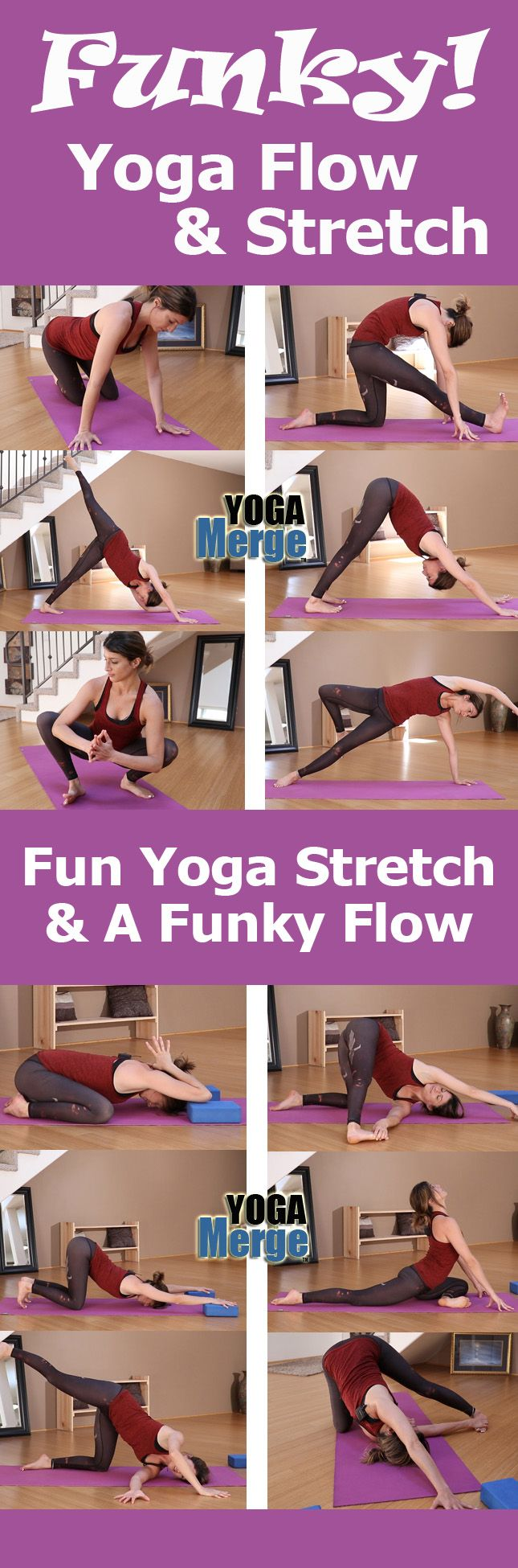 Funky Fun Yoga Flow & Stretch! Hit the mat for some unique and fun classes. Online yoga videos for your home yoga practice!