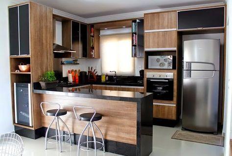 Modernas e funcionais!     Nos projetos modernos as cozinhas com ilha já viraram tendência! Lindas, oferecem comodidade no preparo dos al...