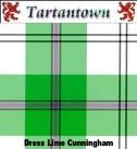 Swatch of Dress Lime Cunningham #cunningham #green #tartan