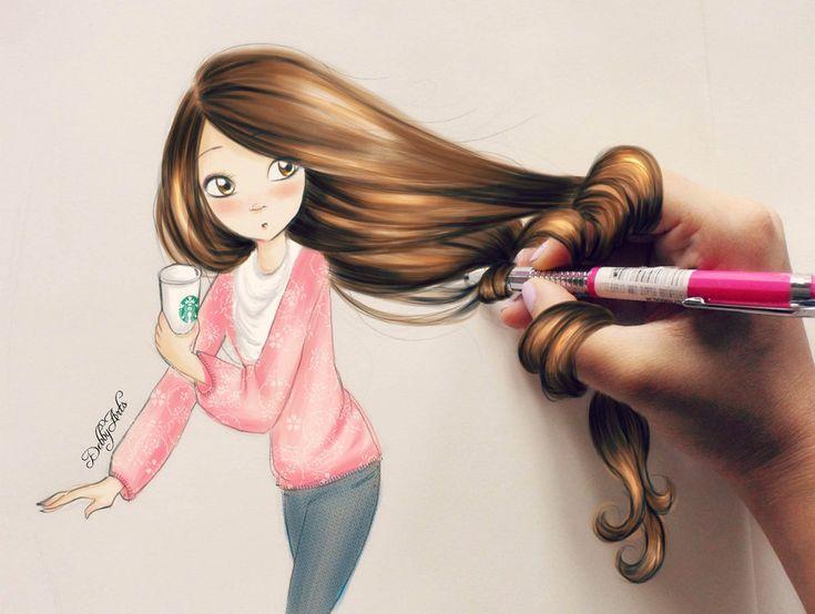 Starbucks Girl - by DebbyArts by DebbyArts.deviantart.com on @DeviantArt
