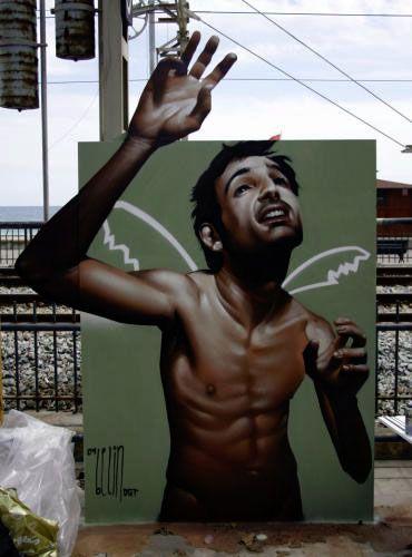 street artist Belin