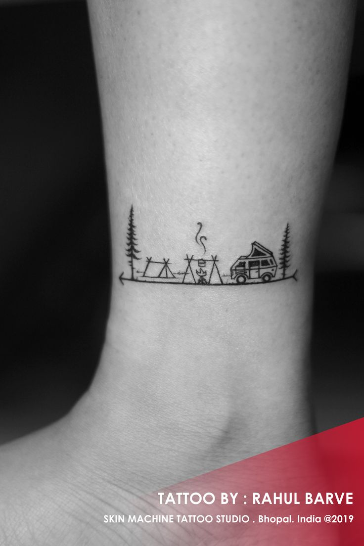 Traveler tattoo , done by : Rahul Barve Skin Machi…
