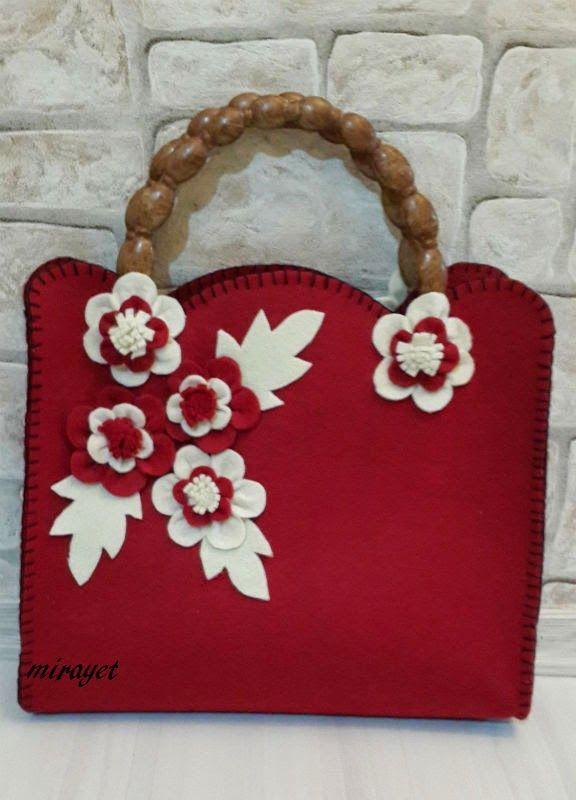 mirayet.blogspot.com: Keçe Çantalarımı Paylaşmaya Devam Edeyim :)