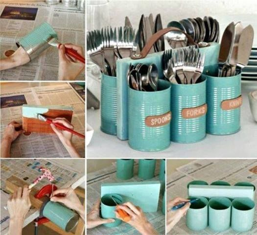 hereu0027s another great upcycle project that you can make for summer this cutlery caddy silverware