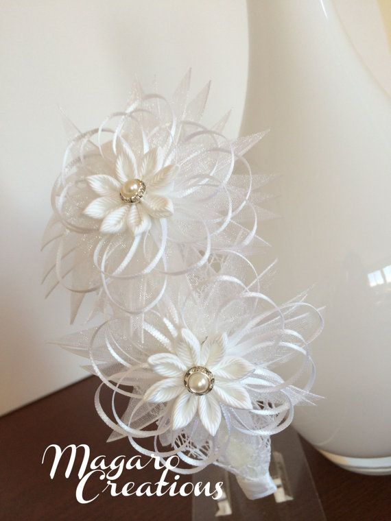 Flower girl headbandflower headbandsgirl hair by MagaroCreations