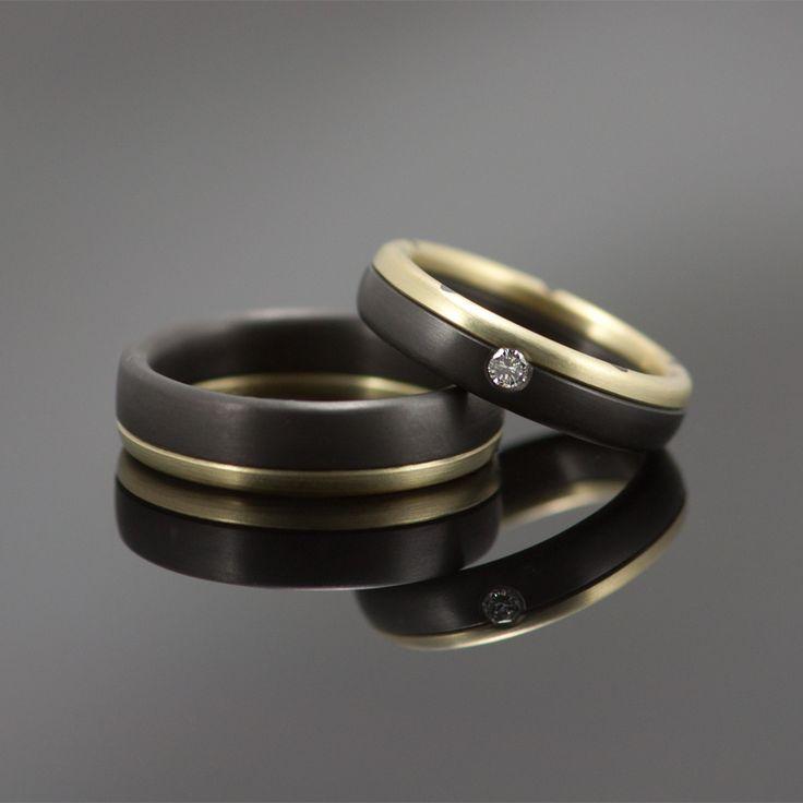 Zwarte zirkonium trouwringen | Marc Lange Sieraden