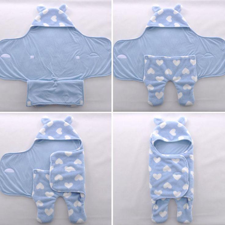 Saco de dormir Sleepsack Bebé Polar Para Cochecito Ultra Ligero Cochecito de Bebé de Dibujos Animados Mantas de Bebé Saco de dormir de Patas