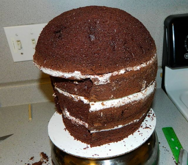Football Helmet Cake Tutorial - by Maureen @ CakesDecor.com - cake decorating website