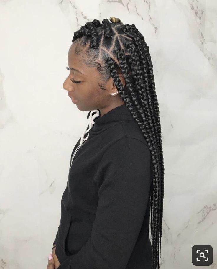 Diamond Medium Part Plaits Braided Hairstyles Cornrow