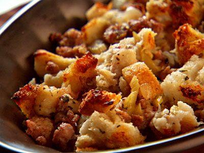 Sausage Bread Stuffing | Ricetta | Ricette ripieno, Pane e Ripieno