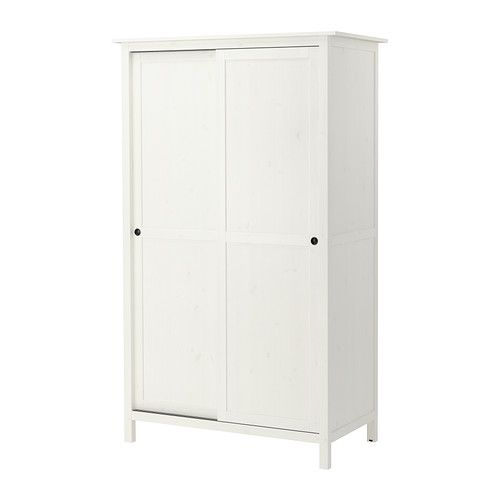 HEMNES Wardrobe with 2 sliding doors IKEA Made of solid wood, which is a durable and warm natural material.